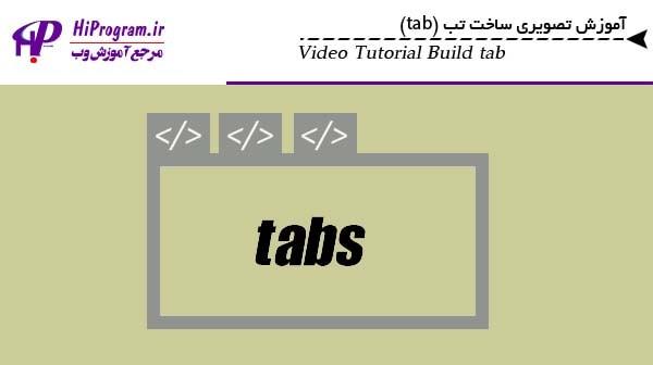 آموزش تصویری ساخت تب برای سایت (tab)