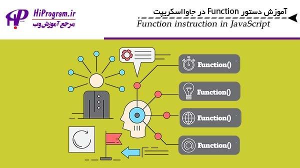آموزش دستور Function در جاوااسکریپت