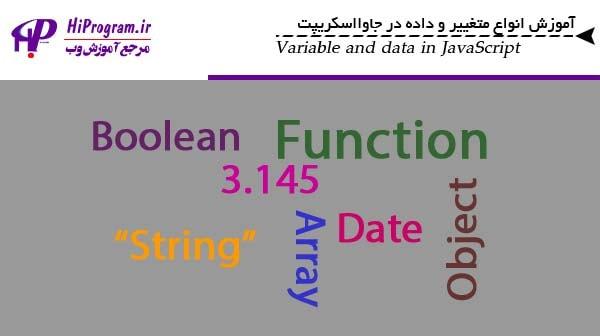 آموزش انواع متغییر و داده در جاوااسکریپت