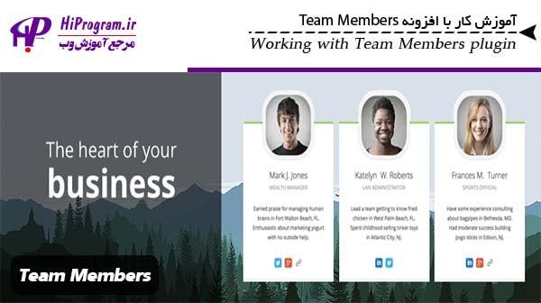 آموزش کار با افزونه Team Members