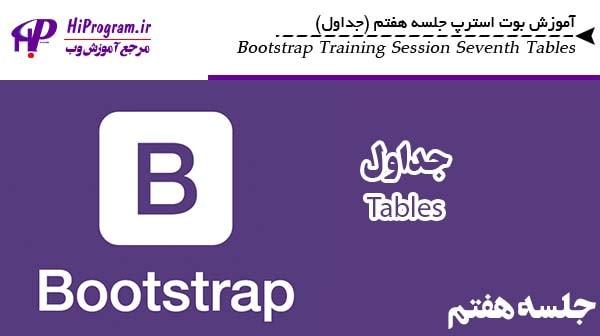 آموزش Bootstrap جلسه هفتم (جداول)