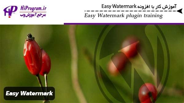 آموزش کار با افزونه Easy Watermark