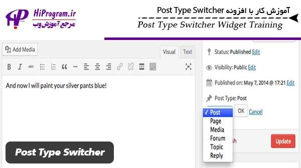 کار با افزونه Post Type Switcher