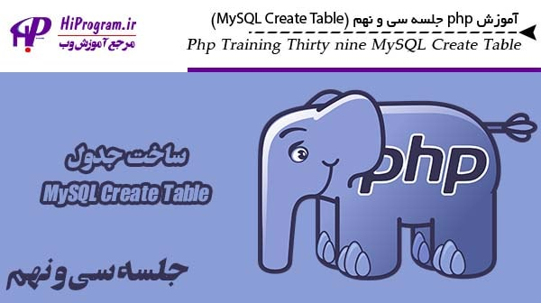آموزش php جلسه سی و نهم (MySQL Create Table)