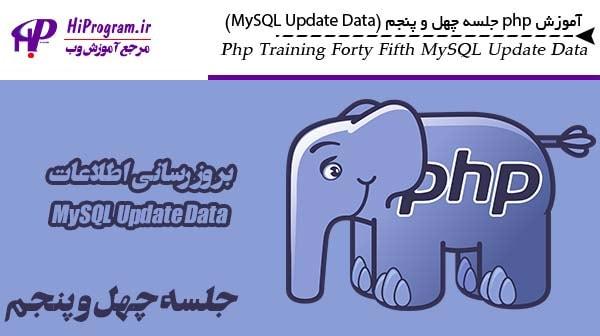 آموزش php جلسه چهل و پنجم (MySQL Update Data)